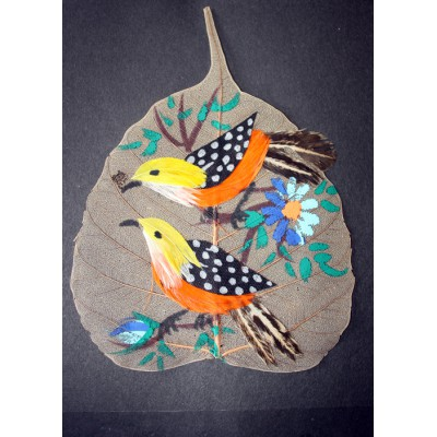 Feather Work on Plant leaves